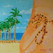 Beach Side View Art Print