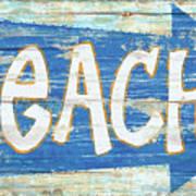Beach Sign Art Print