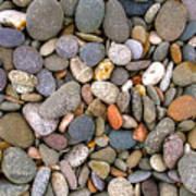 Beach Stones And Pebbles Print by Sophie De Roumanie