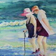 Beach Strollers II Art Print