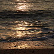 Sunrise Ocean Wave Reflection 1 Art Print