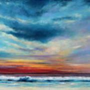 Beach Sunset Art Print by Prashant Shah