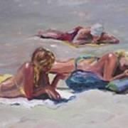 Beach Talk Art Print
