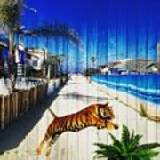 Beach Tiger  Art Print