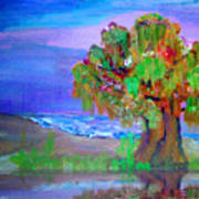 Beach Tree Art Print