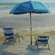 Beach Umbrella - Hilton Head Art Print
