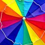 Beach Umbrella Panoramic Art Print