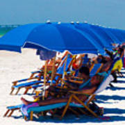 Beach Umbrellas By Darrell Hutto Art Print