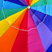 Beach Umbrella's Cell Phone Art Art Print