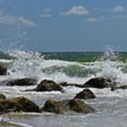 Beach Waves001 Art Print