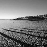 Beach With Shadows Art Print