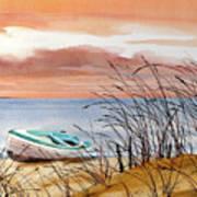 Beached In Breeze Art Print