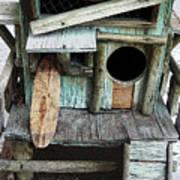 Beachfront Birdhouse For Rent 1 Art Print