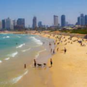Beachfront In Tel Aviv  Art Print