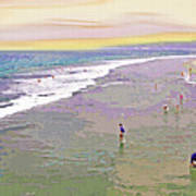 Beachgoers 1 Art Print