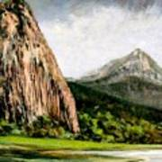 Beacon Rock Washington Art Print