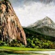 Beacon Rock Washington Art Print