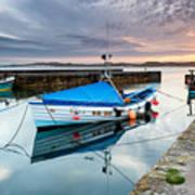 Beadnell Harbour Sunset Art Print