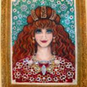 Sarah Goldberg Beauty Queen. Beadwork Art Print