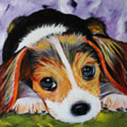 Beagle Pup Art Print