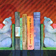 Bear Bookends Art Print by Arline Wagner