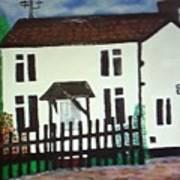 Bear Cottage Art Print