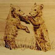 Bear Cubs Art Print