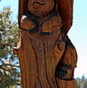 Bear In Wood Art Print