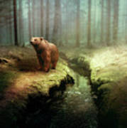 Bear Mountain Fantasy Art Print