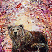 Bear With A Heart Of Gold Art Print