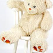 Bear On A Chair Art Print