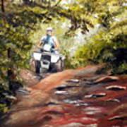 Bear Wallow Rider Art Print