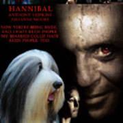 Bearded Collie Art Canvas Print - Hannibal Movie Poster Art Print