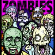 Bearded Zombies Group Photo Art Print