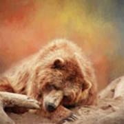 Bearly Asleep Art Print