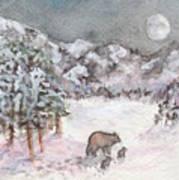 Bears In Winter Art Print