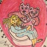Bear's Love's Hugs Art Print