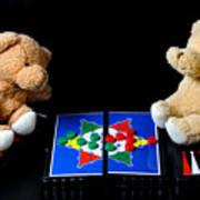 Bears Playing Halma Art Print