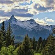 Beartooth Mountains In Spring Art Print