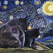 Beary Starry Nights Too Art Print