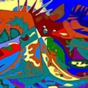 Beast In Colorful Coat Art Print