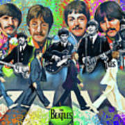 Beatles Fan Art Art Print