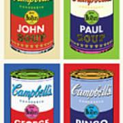 Beatles Soup Art Print