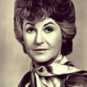 Beatrice Arthur, Vintage Actress Art Print