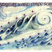 Beaufort Wind Force Scale Art Print