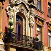 Beautiful Balcony In Austria Art Print