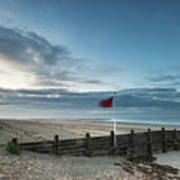 Beautiful Beach Coastal Low Tide Landscape Image At Sunrise With Art Print