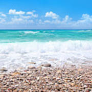 Beautiful Beach Panoramic Landscape Art Print
