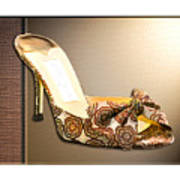 Beautiful Brocade Slippers For A Ball Art Print