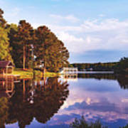 Beautiful Bunn Lake - Zebulon, North Carolina Art Print